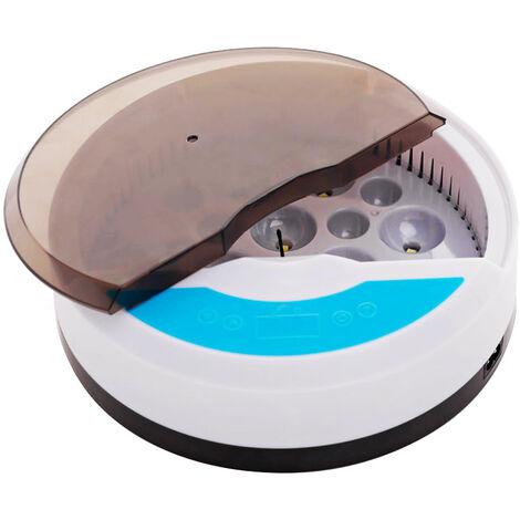 Incubateur d\'oeufs numerique Controle automatique de la temperature Lumiere LED pour observer la croissance 9 Oeufs eclosoir de volaille automatique pour poulets Canards Pigeon Caille (220V),modele: prise ue