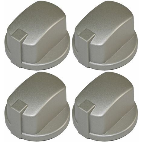 """main image of """"Indesit Compatible Oven Cooker Hob Control Knob Inox Pack of 4"""""""