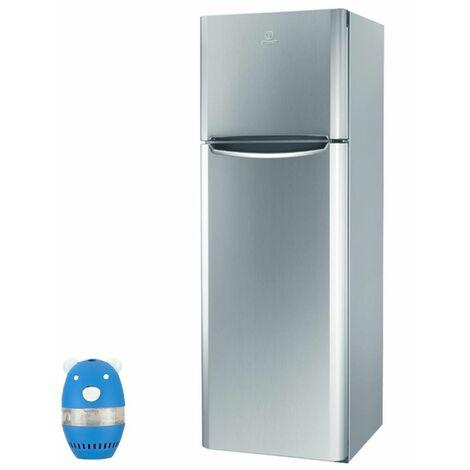 INDESIT Réfrigérateur frigo double porte inox 305L A+ Froid brassé Hygiène Control