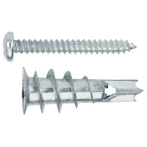 INDEX BZTAPLAME - Taco para placas de yeso laminado. Taco de Zamak con tornillo DIN 7981 4.2 x 32 15 x 29