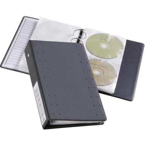 index classeur à anneaux noir 20 rangements cd/dvd durable