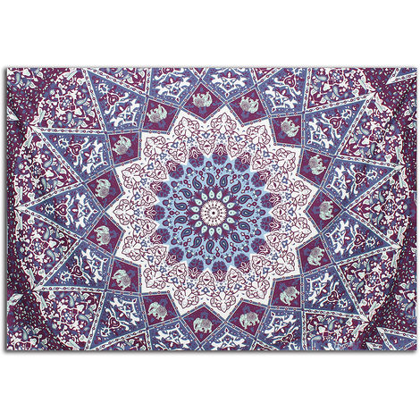 India Datura Polyester Tapestry Mural Home Decoration Bedroom 204X140cm