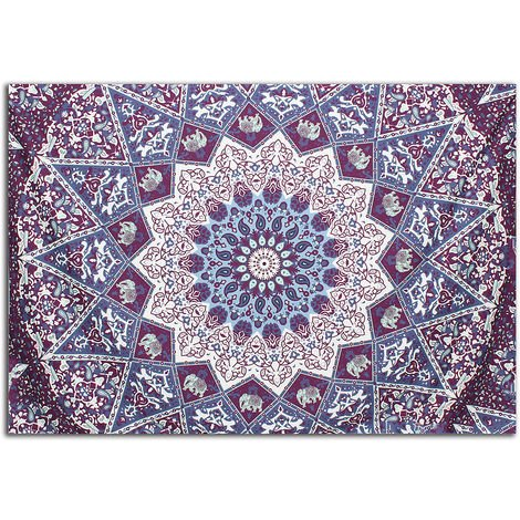 India Datura Polyester Tapestry Mural Home Decoration Bedroom 204X140cm Hasaki