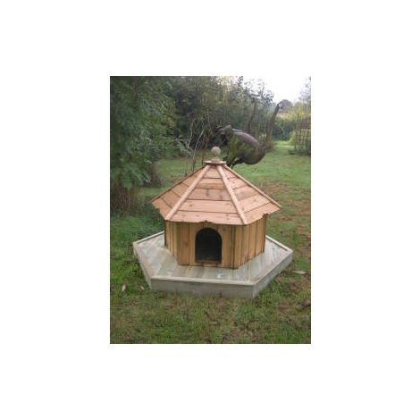 Indian Runner Hexagonal Floating Duck House, Waterfowl Nesting Box for Pond or Lake