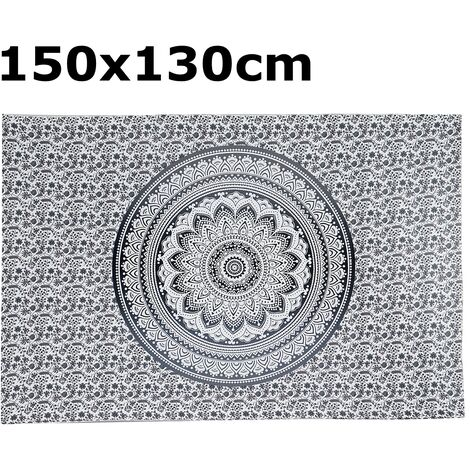 Indian Tapestry Wall Hanging Mandala Bedspread Throw Bohemian Cover Beach Towels Type 5 150x130cm