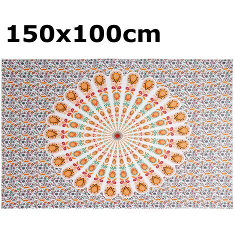 Indian Tapestry Wall Hanging Mandala Bedspread Throw Bohemian Cover Beach Towels Type 6 150x100cm