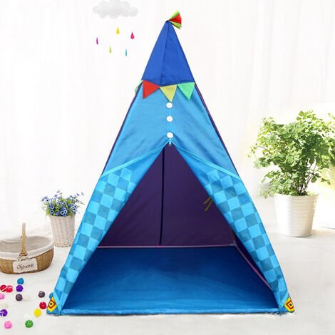 Indian Teepee Tent Kids Play House Folding Indoor Toy