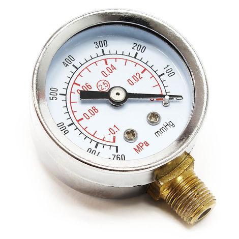 Indicador de presión para compresor de aerografía AS20W MPa mmHg Manómetro para compresor