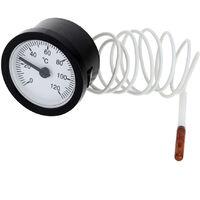 Indicador de temperatura capilar del termometro de cuadrante, con sensor de 1.5 m 0-120 ¡ã C