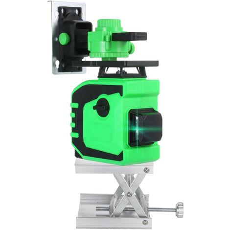 Indicateur de niveau laser 12 lignes Indicateur de mise a la terre de lumiere verte Indicateur de niveau integre mur-sol de haute precision pour interieur et exterieur Commande tactile / a distance Montage au sol / mural Norme europeenne