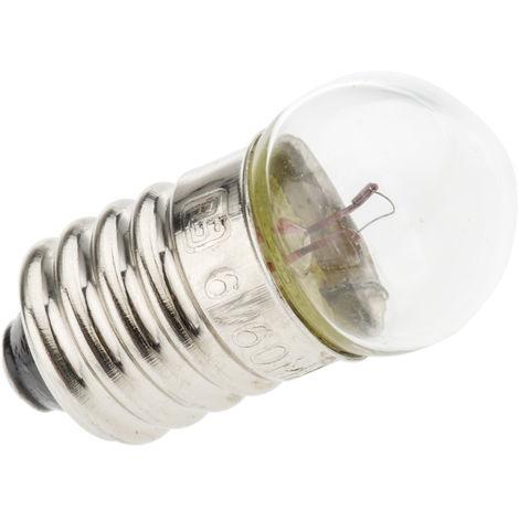 Indicateur lumineux RS PRO E10, Clair, 6 V, 60 mA, 10000H