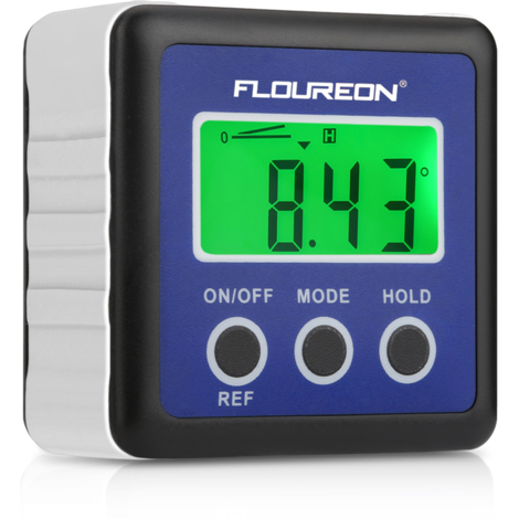 Indicateur numérique de biseau Floureon LCD vert rétro-éclairé Indicateur d'angle, étanche