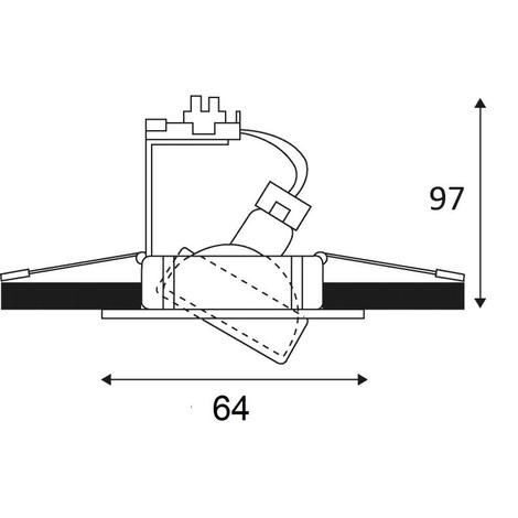 Indigo KO1012S04 - Spot à encastrer orientable GU4 35W - blanc