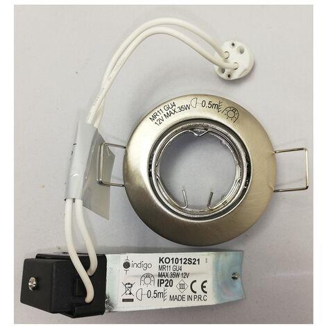 Indigo KO1012S21 Spot encastré satin nickel pour GU4 35W max MR11