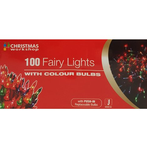 Indoor 100 Fairy Lights with Multi Coloured Bulbs