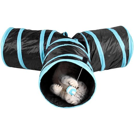 Indoor Cat Tunnel 3 Way Pet Play Tunnel Collapsible Tunnel Tube Kitty Tunnel Pet Toys