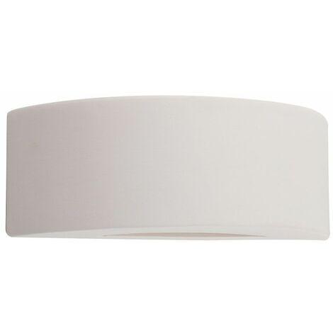 Indoor Ceramic Wall Sconce Light Fittings Uplighter Light - White