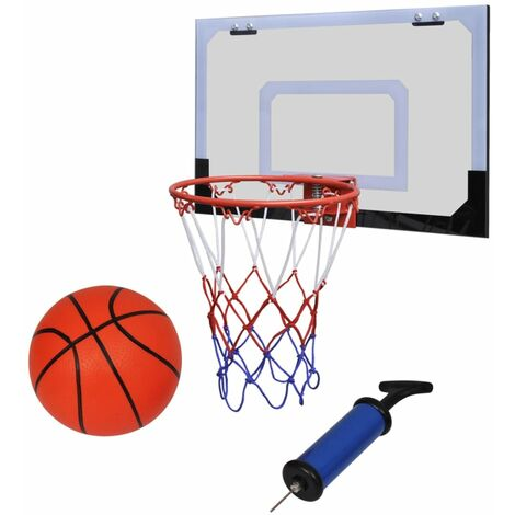 Portable Kids Basketball Net Adult Hoop Backboard Adjustable Stand Set 210 cm