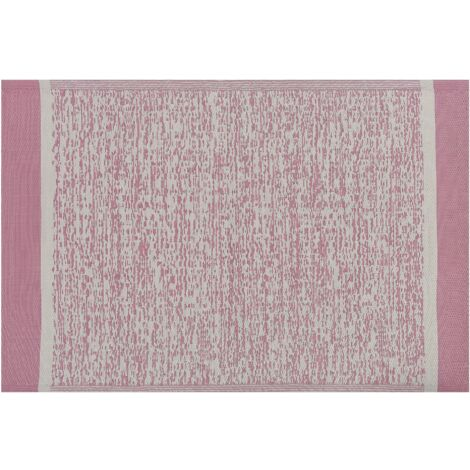 Indoor Outdoor Area Rug 120 x 180 cm Pink Synthetic Woven Bellari