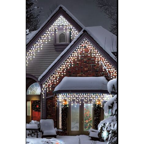 Indoor Outdoor Icicles Christmas Lights Warm Ice White 120 Led