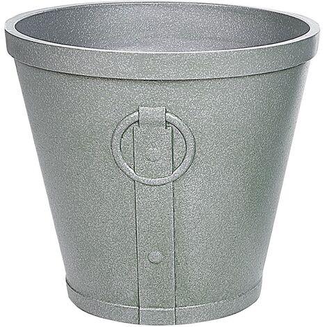 "main image of ""Indoor Outdoor Plant Pot Stone UV resistant 41x41x37 cm Brown Vari"""
