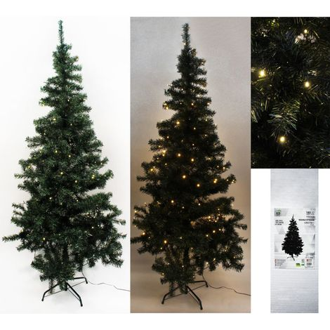 Weihnachtsbaum LED 2-Teilig Grün 180 cm
