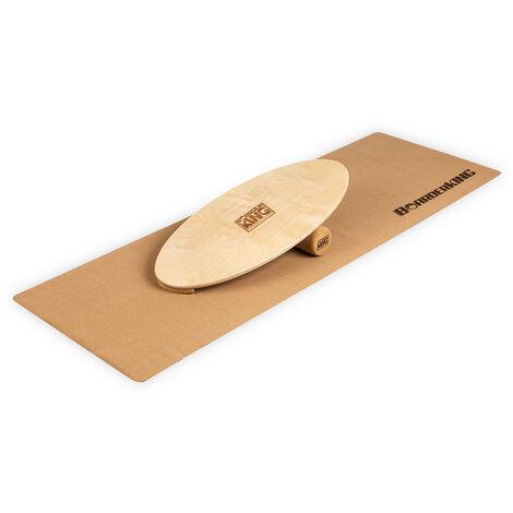 Indoorboard Allrounder Tabla de equilibro + Esterilla + Rodillo Madera/Corcho