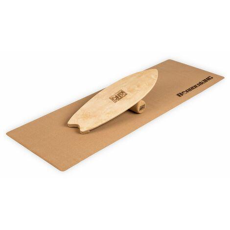 Indoorboard Wave Tabla de equilibro + Esterilla + Rodillo Madera/Corcho