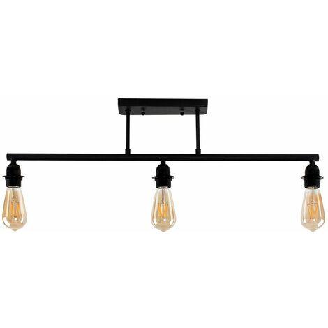Industrial 3 Way Bar Ceiling Light