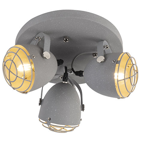 Industrial adjustable spot gray concrete 2-light - Rebus