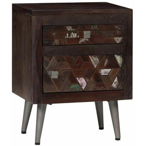 Industrial Bedside Table Vintage Rustic Furniture Side End Unit Metal Cabinet