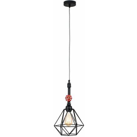 Industrial Black Ceiling Pendant Light 4W LED Filament Bulb