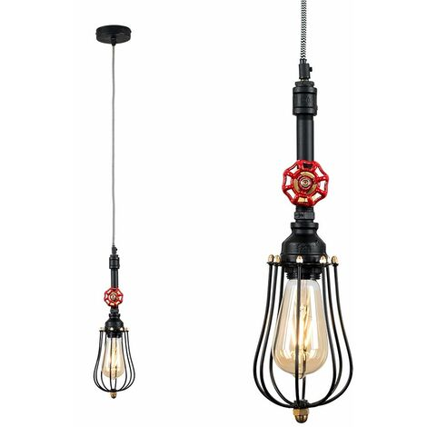 Industrial Black Ceiling Pendant Light + Irwin Shade
