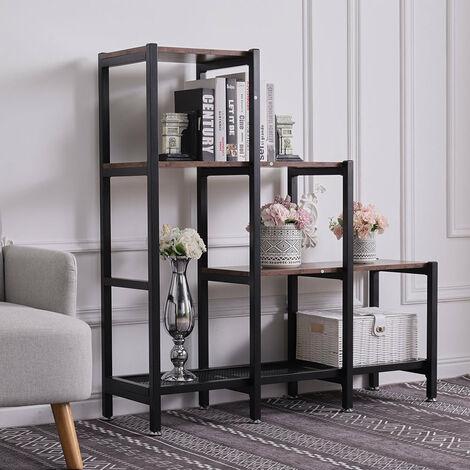 Industrial Bookcase Bookshelf Storage Home Display Stand Shelf Unit