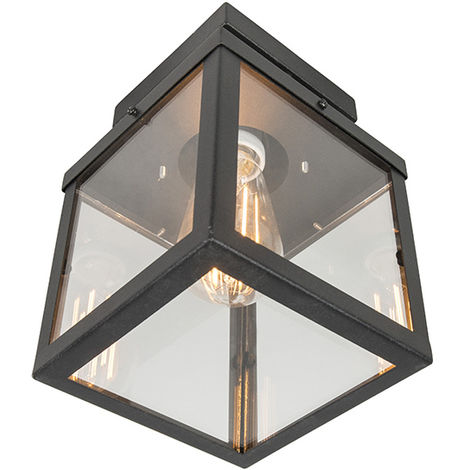 Industrial Ceiling Lamp 1 Black IP23 - Rotterdam