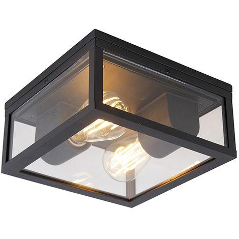 "main image of ""Industrial ceiling lamp black IP44 - Charlois"""