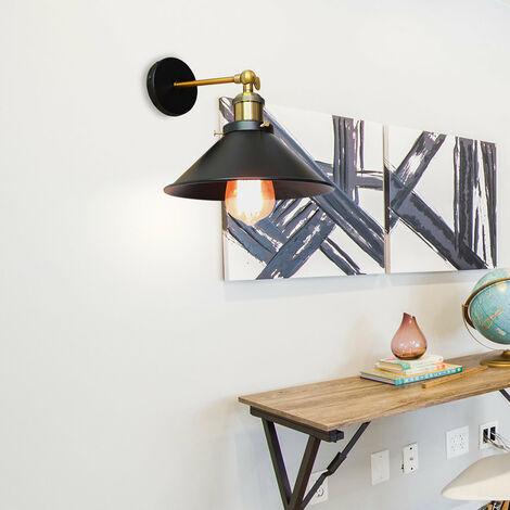 Industrial Ceiling Light 22CM Metal Iron Wall Lamp Black Retro Wall Sconce Vintage Wall Light E27 Bulb