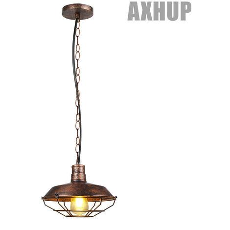 Industrial Ceiling Light Retro Antique Pendant Lamp Vintage Pendant Light Rust Ø260mm Iron Metal Chandelier E27