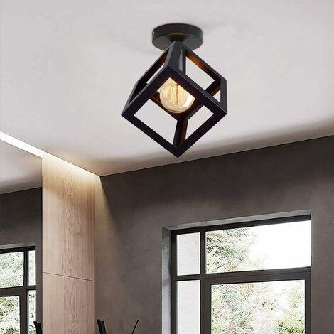 Industrial Ceiling Lights Black Vintage Ceiling Lamp Cage chandelier Retro Lighting Fixture Indoor Home