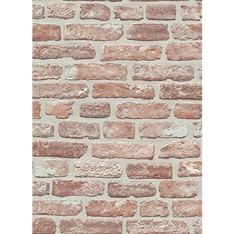 Brick Effect - Wallpaper - Red - Paste the wall