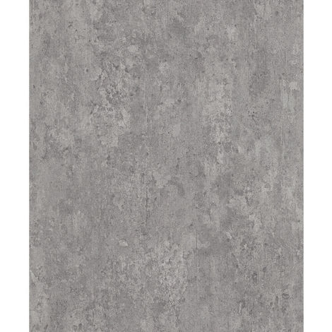 Industrial Concrete Brick Slate Wallpaper Paste The Wall Vinyl Light Grey White