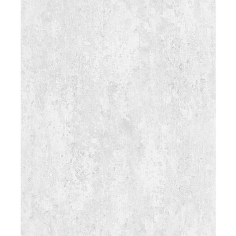 Industrial Concrete Brick Slate Wallpaper Paste The Wall Vinyl Light Grey White