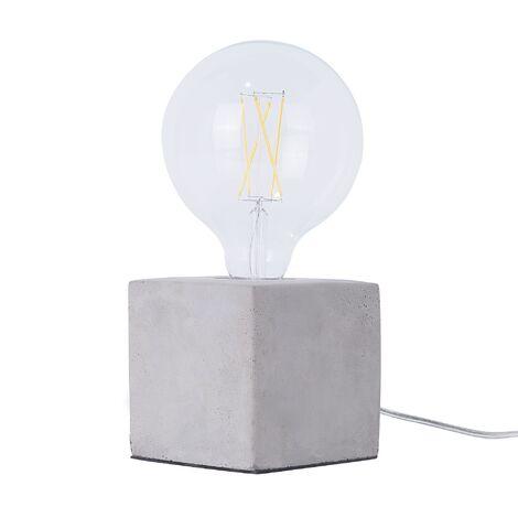 "main image of ""Industrial Concrete Lamp Light Raw Cement Bedside Table Lighting Grey Deva"""