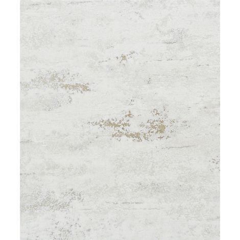 Industrial Concrete Stone Wallpaper Metallic White Gold Textured Vinyl Rustic