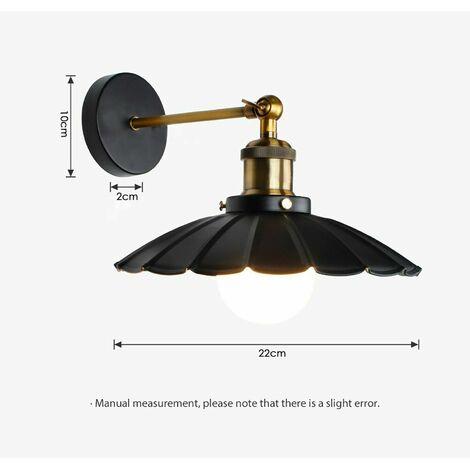 Industrial E27 Wall Lights Sconce Lamp Fixture Wavy Light Shade
