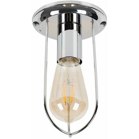 Industrial Flush Chrome Copper Ceiling Lights
