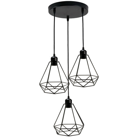 Industrial Geometric Light Shade Wire Frame Ceiling Pendant Lightshade Lampshade