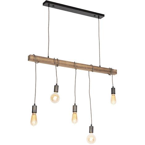 Industrial hanging lamp black - Gallow