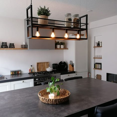 "main image of ""Industrial hanging lamp 4-light black - Big Cage"""