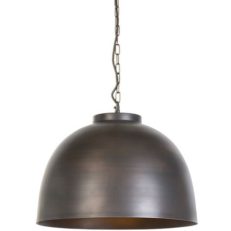 Industrial hanging lamp brown 45.5 cm - Hoodi